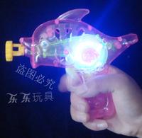 Dollarfish dolphin bubble water gun luminous bubble gun flash toys bubble