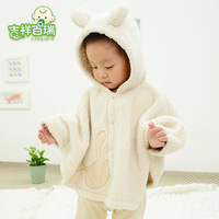 Lucky braim infant cloak child cloak baby cloak spring and autumn thickening 0 - 2