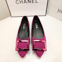 Fashion 2014 fashion pointed toe flat heel flat metal shallow mouth single shoes side buckle female shoes