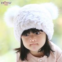 Rex rabbit fur winter millinery parenting children fox fur hat fur hat baby children
