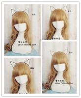 Korea fashion Lovely Black Silver Gold Leopard print cat ears bunny rabbit ears elastic hairband hair accessories for women