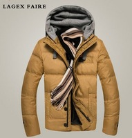 100% good quality men's new fashion thick cotton padded jacket coat free shipping M-3XL