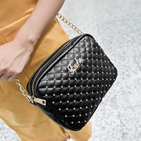 2014 fashion rivet plaid chain bag  women's the trend handbag small cross-body bag