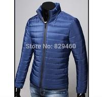 2014 men brand wholesale autumn winter jacket.Youth leisure fashion, cultivate one's morality eiderdown cotton jacket  M - 3XL