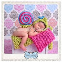 New Handmade Crochet Animal Snail Flower Baby Girl Hats Caps Costume Newborn Photography Props Beanies