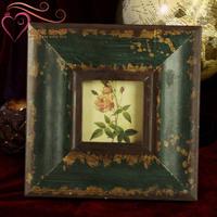 Retro flower decorated home finishing frame fashion vintage frame square-fashion swing sets photo frame