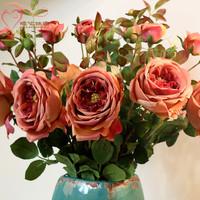 For dec  orated home long floor vase decoration silk flower bowyer royal high artificial flower rose