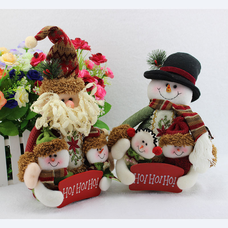 30*20CM Quality Snowily Christmas Decoration Christmas Tree Hangings Christmas Doll Products Inflatable Santa Claus 1 Piece(China (Mainland))
