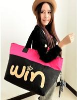 free shipping!2014 hot sale mercerizing water-proof cloth win monkey shoulder bag female bags big size bag