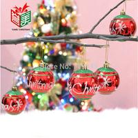 8cm christmas ball christmas tree bundle decoration merry christmas tree hanging drop