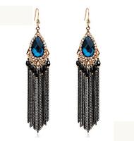 Female fashion bohemia long design tassel earrings drop earring