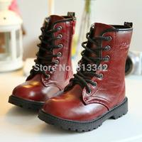 Baby Martin Boots Platform 2014 Parent-Child Shoes Cotton Footwear Children's Mid Calf Boots