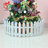 6pcs big white fence Christmas treen bundle decoration plastic fence christmas decoration props