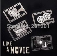 Novelty gift ! 4 p/ set Funny Mini metal bookmark 6364 for Men Christmas love gift Free Shipping