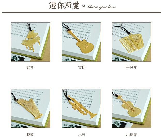 Marcador do vintage 18 k série instrumento musical requintado metal marcador de petróleo ultra fino(China (Mainland))