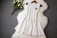 3378 2014 autumn women's fashion beaded fashion wool knitted slim one-piece dress