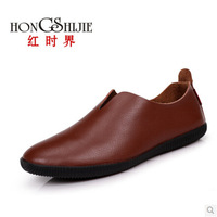 On sales 2014 male shoes 4 colors genuine leather casual shoes men shoes flat zapatos mujer soft mens loafers flats