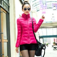 2014 autumn and winter fashion slim female cotton-padded jacket outerwear wadded jacket short design small cotton-padded jacket