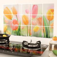 Oil high temperature resistant wall stickers aluminum foil paper 75* 45 kitchen cabinet decoration