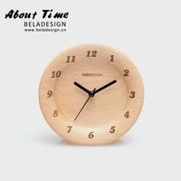 Wood clock wool mute clock log alarm clock beech