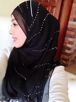 2014 FreeShipping Muslim hijab scarf bandanas chromophous of luxury paragraph