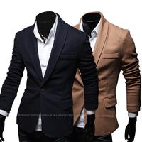 New Mens Solid Color Casual Blazer Slim Jacket Blazers Coat For Men Free Shipping Brand New Suit Men Blazers