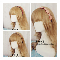 Korea Fashion Pink Red Brown 3Color rhinestone brief elegant pentagram five-pointed star elastic hair bands headbands hair band