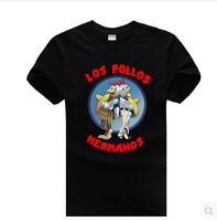 2014 new drama Breaking Bad LOS POLLOS HERMANOS BREAKING BAD men and women short-sleeved cotton T-shirt big yards Men's T-shirt