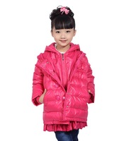 children casual Duck down jacket kids parka outerwear 2014 new arrival High quality girls winter coat  7279