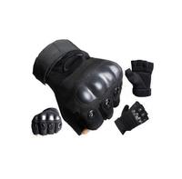 Anti-collision semi-finger tactical gloves black hawk slip-resistant ride male slip-resistant gloves combat sports Gloves
