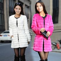 2014 fur coat outerwear faux oWinter coat women 2014 New High Quality Faux Fur coat ,long Slim jacket women 04