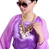 Fashion big pearl fashion accessories decoration design short chain necklace female