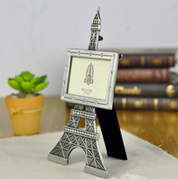 Vintage Home Decor La Tour Eiffel Tower Photo Frame with Stones Decoration 3 x 2inch Metal Art Gift Craft