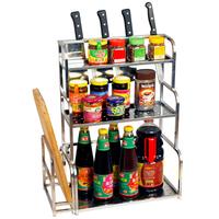 Sakura stainless steel seasoning rack shelf spice rack tool holder kitchen supplies storage rack