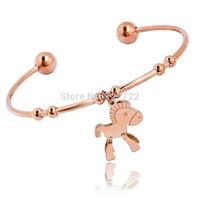 Rose gold bracelet titanium women's bell bracelet accessories bracelet female bracelet