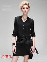 Autumn 2014  hot-selling fashion slim long-sleeve irregular shirt star brief shirt