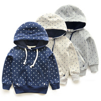2014 autumn new arrival sea anchor boys jacket children baby hoodeds sweater child clothes  hedging top sweatshirt