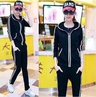 2014 women's the trend of casual sports set sweatshirt outerwear female trousers long-sleeve sportswear