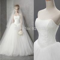 2014 new Boutique wedding formal dress bandage lacing tube top wedding train wedding dress free shipping