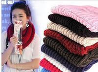 Sweet all-match knitted yarn small muffler scarf single-circle scarf collars autumn and winter female yarn scarf muffler