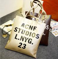 New arrival Vintage preppy style PU letter bag casual shoulder bag handbag fashion women's handbag
