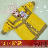 Baby autumn and winter newborn boy sweater 100% sweater cotton cardigan sweater baby young children shayi set