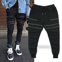 Good Quality Mens Jogger Pants Zippers Fashion Trousers Sport Joggers Pants Slim Hip Hop Sweatpants Casual Jogger Pants