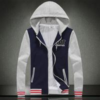 2014 Men's fleece The fashion leisure sport baseball uniform Hooded man hoody