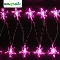 Led lights star  flasher battery lighting string Christmas wedding road lantern full copper wire 4M 40 beads RGB