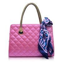 Silk scarf embroidery handbag large bag 1818