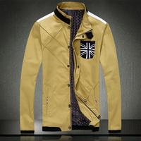 Free shipping Men's leather coat 2014 new men jacket The fashion leisure PU leather jacket