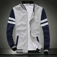 2014 Men's fleece The fashion leisure sport baseball uniform Men's printed hoodies