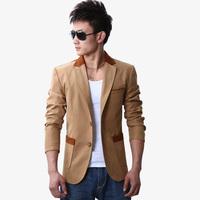 2014 men's autumn clothing single suit blazer jacket slim fashion thin male blazer