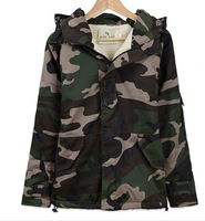 2014women's Camouflage cotton-padded jacket loose lovers outerwear plus size tooling wadded jacket